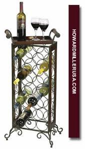 655147 howard miller wrought iron standing wine rack cellar 21 bottles