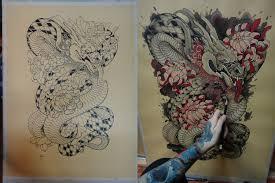 tattoo design japanese dragon by xenija88 on deviantart