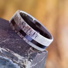 Deer Antler Wedding Rings by Black Ceramic Antler Ring Deer Antler Wedding Band