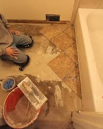 Installing Bathroom Floor Tile Tiling Bathroom Floor Use Diagonal Diy Tiles Home Interiors