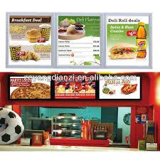 design led panel wall mount backlit diy restaurant menu board
