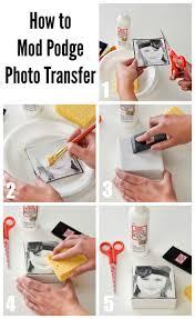 how to do a diy photo transfer with mod podge plaidcrafts craft