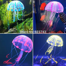 5pcs lot colorful silicon fluorescent floating glowing jellyfish