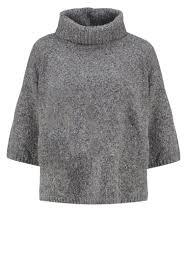 siege gap gap siege gap femme pulls gilets pullover charcoal