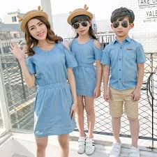 family matching cotton family clothing mother daughter off