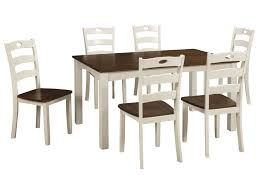 7 Piece Dining Room Set by Signature Design By Ashley Woodanville Two Tone Finish 7 Piece