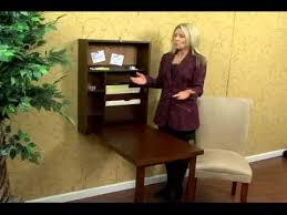 Fold Out Desk Diy Walnut Fold Out Convertible Desk By Southern Enterprises