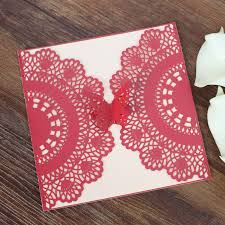Invitation For Marriage Wed Invitation Red Laser Cut Butterfly Invitations For Marriage