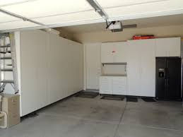 furniture custom white wall mounted garage cabinet with black