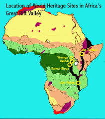 africa map great rift valley great rift world heritage