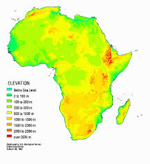 africa map elevation africa hydro home page