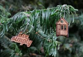 tiny house tree ornaments set tiny house journey