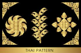 golden thai ornaments vector material 17 vector ornament