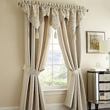 Bed Bath And Beyond Window Valances Waterford Linens Olivette Window Curtain Panels And Valance Bed