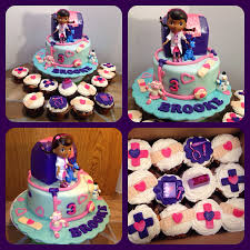 doc mcstuffins birthday cake doc mcstuffins cake and matching cupcakes https www