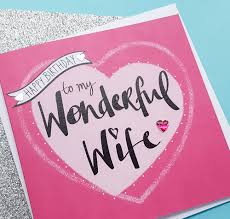 handmade wife birthday card kio cards