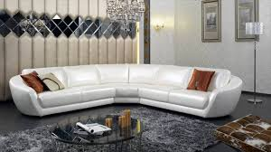 White Italian Leather Sectional Sofa Modern Italian Leather Furniture