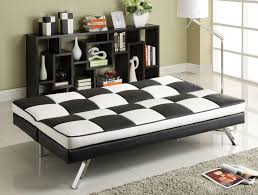 Click Clack Sofa Furniture Plaid White And Black Click Clack Sofa With Gray Rug