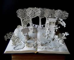 Upcycle Old Books - i upcycle old books by turning them into magical sculptures art