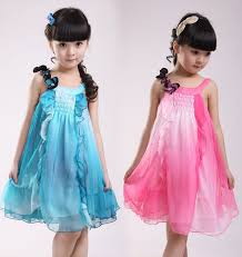 new years dresses for kids hot sale 2016 new chiffon sleeveless summer girl dress for