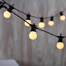 Warm White Connectable Frosted Festoon Plug in Globe Lights