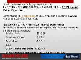cmo calcular el salario diario integrado con sueldo presentacion aprende a calcular tu liquidacion