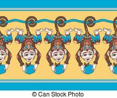 monkey ribbon monkey bar vector clipart eps images 147 monkey bar clip