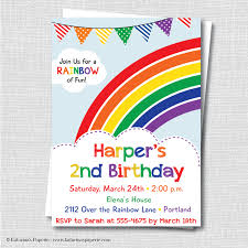 rainbow birthday party invitations alanarasbach com