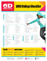 Office Depot Desk Accessories by Office Depot 2013 College Checklist Deca Direct
