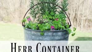 Herb Container Garden - 12 container herb gardens farmhouse 40
