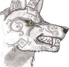 growling wolf by zenicel on deviantart