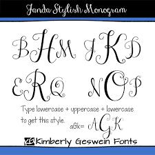 initial fonts for monogram new kg already home and janda stylish monogram fontabulous