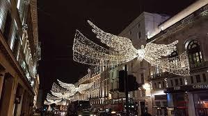 regent street christmas lights shine bright with unusual rigging