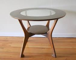 frosted glass table top replacement modern black melamine finished mahogany wood side table with