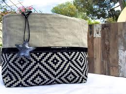sac cabas lin sac cabas lin graphique noir tendances du monde
