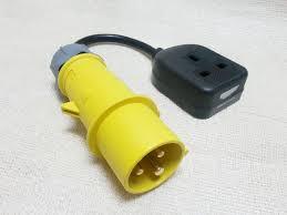 110v plug 16a to 230v socket mains adaptor pta4