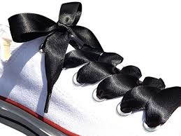ribbon shoelaces black satin ribbon shoe laces shoe strings to fit