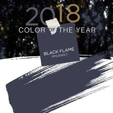 pittsburgh paints unveils black flame as their color of the year