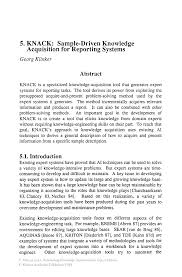 writing an abstract for a paper knack sample driven knowledge acquisition for reporting systems automating knowledge acquisition for expert systems automating knowledge acquisition for expert systems