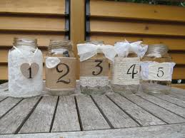 Jar Table L Jar Table Numbers Wede L Pinterest Table Numbers Jar