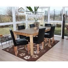 lot de 6 chaises salle à manger chaise cuir noir salle manger maison design hosnya com