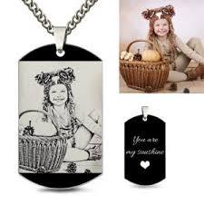 engraved dog tag necklace custom engraved dog tags for men