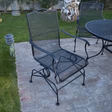 Patio Spring Chair by Belham Living Stanton Wrought Iron Coil Spring Dining Chair By