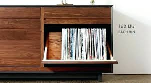 Horizontal Storage Cabinet Shelves For Record Albums Stylish Storage Cabinet Record Storage