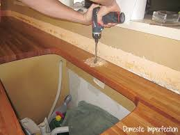 How To Install Butcher Block Countertops by Installing Butcher Block Countertops Domestic Imperfection