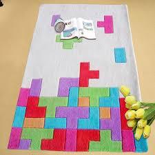 Game Room Rug Happy Games Theme Tetris Area Rug Enjoyglobe Com U0027s Shopping Life