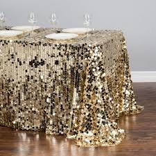 sequin tablecloth rental x 154 in rectangular payette sequin tablecloth gold