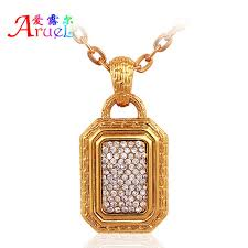 men gold necklace pendant images Men indian jewelry crystal pendants long gold chain statement big jpg