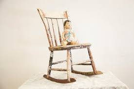 Vintage Rocking Chairs Furniture Good Looking Vintage Wood Rocking Chair Vintage