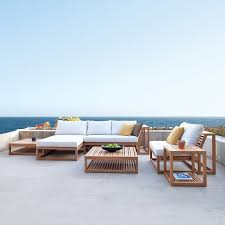 Teak Sectional Patio Furniture Best 25 Teak Outdoor Furniture Ideas On Pinterest Designer